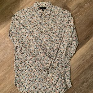 Banana Republic Floral Print Dress Shirt